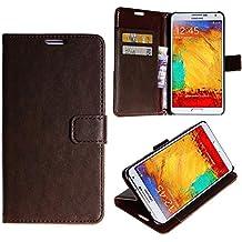 wortek–Flip Case Samsung Galaxy Note 3III N9000/N9005tipo cartera cierre magnético Stand Tarjetas compartimento funda–Varios colores