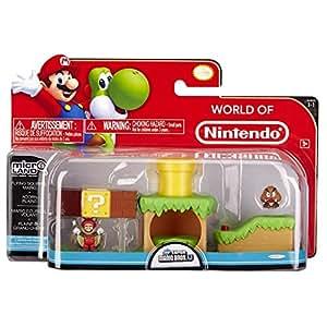 NINTENDO Mario Bros Universe Micro Land Wave 1: Acorn Plains with Flying Squirrel Mario Playset, 3-Pack NINTENDO Mario Bros Univers Micro Terrain Vague 1: Acorn Plains avec Flying Squirrel Mario Portique, 3-Pack