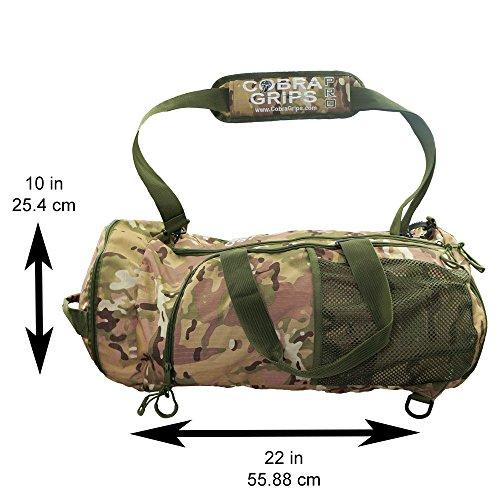 Best Reise Faltbar Sport Duffel Tasche Gepäck wasserabweisend Wet/Dry Nylon Gym Multifunktions Handtasche Leicht Rucksack Gym Tote camouflage