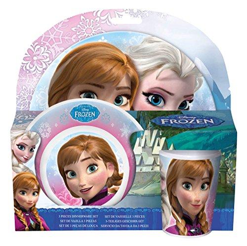 Preisvergleich Produktbild p:os 23873 Frühstücksset Disney Frozen, 3 Teilig Teller, Schale und Becher