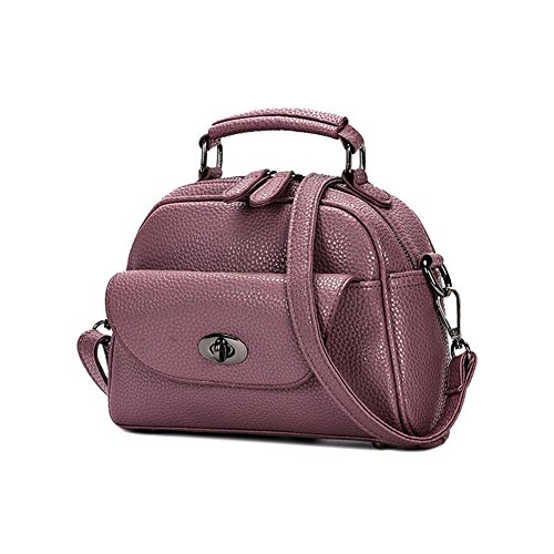HQYSS Borse donna Semplice morbido PU selvaggio pelle donne Messenger Shoulder Handbag Lightweight Tote Bag regolabile , all-match ash purple taro
