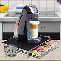 FB FunkyBuys® Dolce Gusto Coffee Pod Holder - 36 Capsules Stackable Stand - Anti Vibration Non Slip Surface - Mesh Drawer Rack