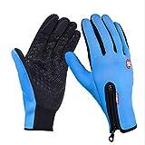 GQDP Winddichte Sport-Touchscreen-Handschuhe Fahrradfahren Vollfingerhandschuhe Warme...