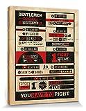 1art1 70981 Fight Club - 8 Regeln, Ihr Verliert KEIN WORT Poster Leinwandbild Auf Keilrahmen 50 x 40 cm