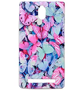 Colourful Butterfly Exclusive Rubberised Back Case Cover For Lava Iris Alfa L