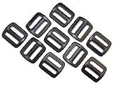 Schieber Stopper 15 mm Kunststoff schwarz Verschiedene Mengen. (10 Stück)
