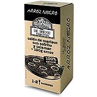 De Irene Paellas y Fideuas, Plato envasado de Arroz Negro, Arroz y Marisco - 6 unidades, 12 Raciones, Total 3600 gr.
