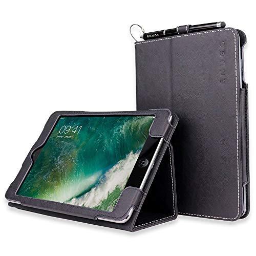 Snugg Schutzhülle für iPad Mini 1/2 / 3 aus Leder, Flip Case mit Ständer - Flussblau