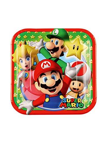 Generique - 8 Kleine Pappteller Super Mario 18cm