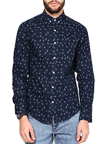 Jack & Jones Men Casual Shirt (5712066653216 Navy Blazer Small )  available at amazon for Rs.1097