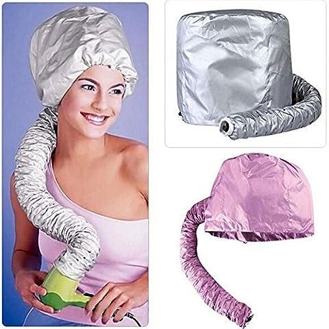 Generic gris: Beauté sèche cheveux caches Bonnet doux hotte de