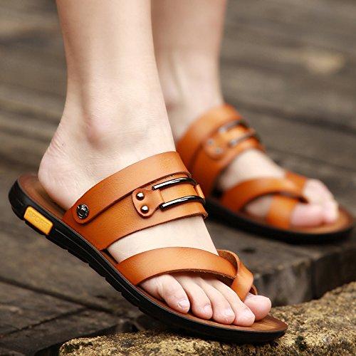 Chaussons, Tongs d'été pour hommes, sandales, chaussures de plage d'antidérapage XXCWN 1615 yellow