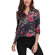 Abollria Camisa para Mujer, Blusa Elegante, Camiseta e T Shirt Casual