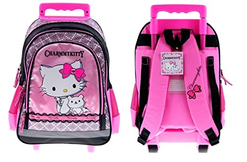 Maxi & Mini - CHARMMY KITTY SAC A ROULETTE TROLLEY SAC A DOS CARTABLE HELLO KITTY