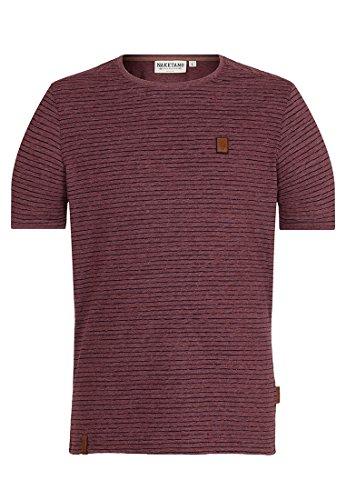 Herren T-Shirt Naketano Hosenpuper X T-Shirt L Bordeaux Melange