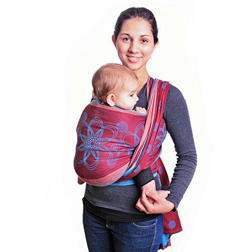 HOPPEDIZ Baby-Tragetuch, inklusive Bindeanleitung, Marrakesch 4,60 m - Kleidung Muster Puppe