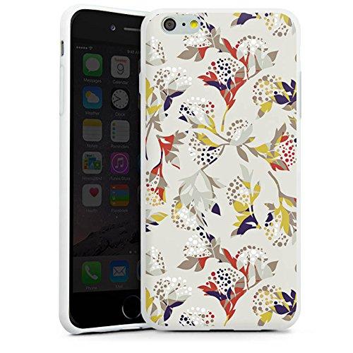 Apple iPhone X Silikon Hülle Case Schutzhülle Blumen Muster Ornament Silikon Case weiß