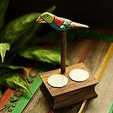 ExclusiveLane Elegant Bird Inspired Table Tea Light Holder In Sheesham Wood - T Lights, Hanging Lights, Decorative Lights, Candle Stand, Candle Holder, Decoration Items