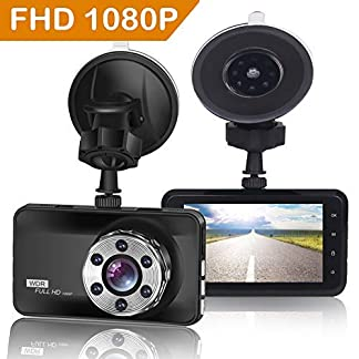 ORSKEY-Dashcam-Full-HD-1080P-Autokamera-Video-Recorder-170-Weitwinkelobjektiv-WDR-mit-3-Zoll-LCD-BildschirmAuto-Dash-Kamera-mit-NachtsichtLoop-Aufnahme-Bewegungserkennung-und-G-Sensor