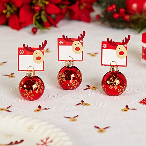 6 rocking rudolf place card pack of 10