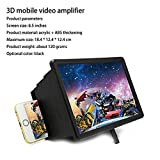 #7: CEUTA, F2 Mobile Phone | 3D Screen Magnifier | 3D Video Screen Amplifier | Compatible with Smartphones [ Assorted Colour ]