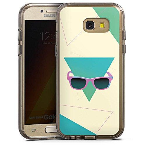 DeinDesign Samsung Galaxy A5 (2017) Bumper Hülle Bumper Case Schutzhülle Hipster Dreieck Sonnenbrille