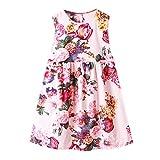 Julhold Sommer Kind Baby Mädchen Schöne Elegante Blumendruck Kleid Prinzessin Beach Party Sommerkleid 4 Arten 1-6 Jahre