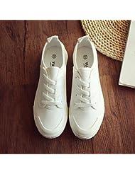 Las Mujeres De Bajo Fondo Plano Superior Encaje Zapatos De Lona De Ocio Alojamiento,Beige ,38