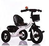 MASLEID Kinder Dreirad Fahrradpedal 2-3-5-jährigen Jungen und Mädchen , white