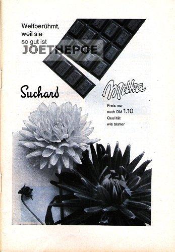 1962 - Inserat / Anzeige: MILKA / PREIS NUR NOCH 1,10 DM - Grösse : ca. 165 x 230 Millimeter - alte Werbung / Originalwerbung/ Printwerbung / Anzeigenwerbung / Advertisement