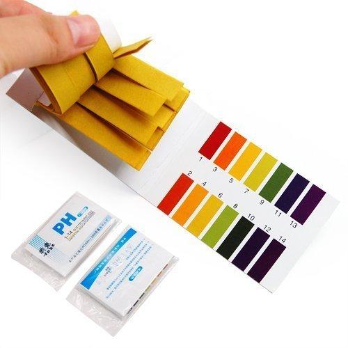 RICISUNG pH-Wert-Indikator-Teststreifen, Lackmuspapier, 1-14, 160 Stück