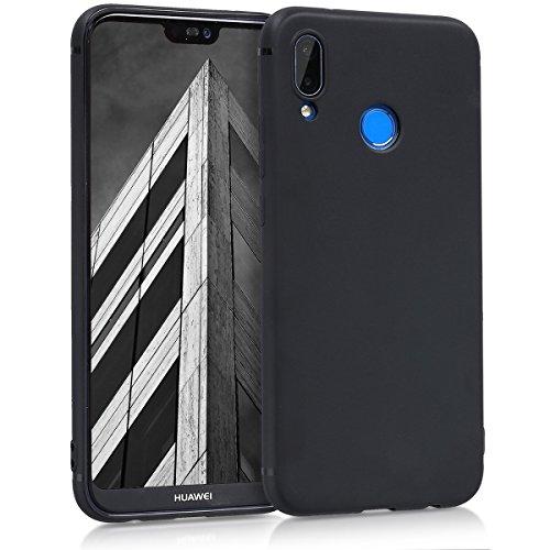 kwmobile Hülle für Huawei P20 Lite - TPU Silikon Backcover Case Handy Schutzhülle - Cover Schwarz matt
