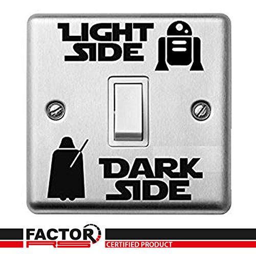 Star Wars Luz Oscura Interruptor Lateral Adhesivo Pegatina De Vinilo Infantil Habitación Lightswitch Pared #1