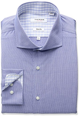 isaac-mizrahi-mens-slim-fit-houndstooth-with-a-dobby-dot-cut-away-collar-dress-shirt-royal-17-neck-3