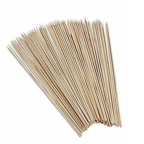 Asentechuk® 270 pcs Bâtons de bois brochette en bambou Grill barbecue outils barbecue brochettes 24,9 cm/25 cm