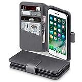 Terrapin, Kompatibel mit iPhone 8 / iPhone 7 Hülle, [ECHT LEDER] Brieftasche Case Tasche mit Kartenfächer und Bargeld - Grau