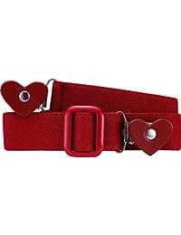 Playshoes Elastik-gürtel Herz-Clip Uni Cinturón para Niñas
