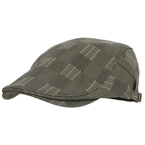 WITHMOONS Béret Casquette Chapeau Tartan Check Newsboy Hat Flat Cap SL3036 Gris