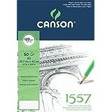 Canson 1557 teken- en schetspapier A3 Zuiver wit.