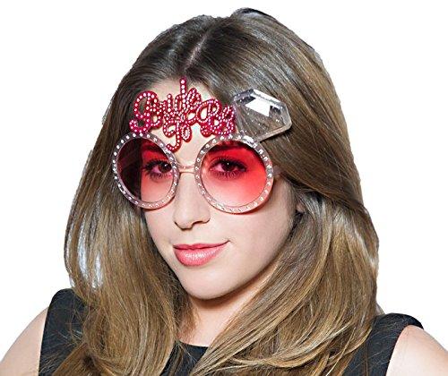 Party-Teufel Diamanten Sonnenbrille mit der Aufschrift Bride to Be Accessoire Junggesellenabschied Bridal Shower