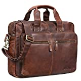 STILORD 'Leandro' Ledertasche Herren Laptoptasche 15.6 Zoll braune Messenger Bag multifunktional...