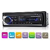 Autoradio Bluetooth In-Armatur Single Din Auto Stereoanlage, Auto-MP3-Player USB/SD/AUX/Wireless inklusive Fernbedienung von Kidcia