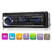 Auto Radio Bluetooth en de grifo Single DIN equipo estéreo del coche, de coche reproductor de mp3usb/sd/AUX/Wireless Incluye mando a distancia de kidcia