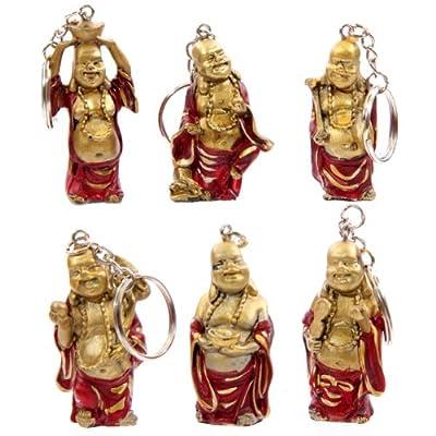 Laughing Chinese Buddha Key Ring - 1 Key Ring