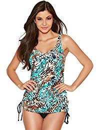 1cfc9ce533708 M&Co Naturana Ladies Non Wired Two Piece Animal Print Tankini Set