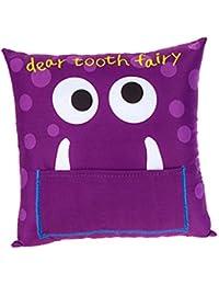 Enfants's Boys/ Girls Tooth Fairy Money Pillow Cushion avec Note/ Letter Pocket -Violet