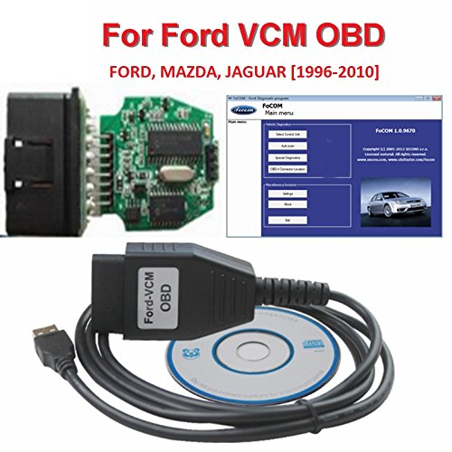 Ford-VCM OBD, FoCOM Ford-Diagnoseprogramm, OBD-Kabel für Ford, Mazda, Jaguar, Mini-Version von VCM IDS OBD2 Scanner-Werkzeug, für PKWs Baujahr 1996-2010 (Flash-speicher-eeprom)