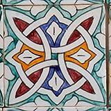 Handbemalte marokkanische Fliese orientalische Keramik Fliese Motiv Mosaikfliese Layla