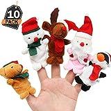 10 Peluches para Niños-Mini Personajes de Navidad-Minifiguras de Juguete para Favor,Premios,Sorpresa,Relleno de Regalos o Medias deTemporada Festiva-Decoración deDormitorio Infantil y Fiesta Navideña
