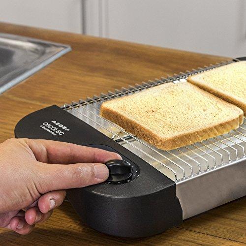 Cecotec Easy Toast Basic - Tostador plano horizontal, 600 W, 6 niveles, bandeja recogemigas y hueco recogecables, Negro